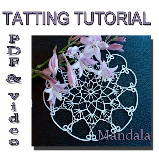 Tatting pattern doily Mandala