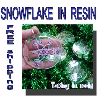 Snowflake in resin