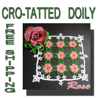 Cro-tatted Rose doily