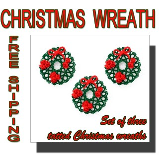 Set of three Christmas wreaths