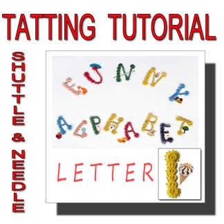 Letter I tatting pattern