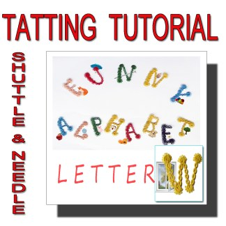 Letter W tatting pattern