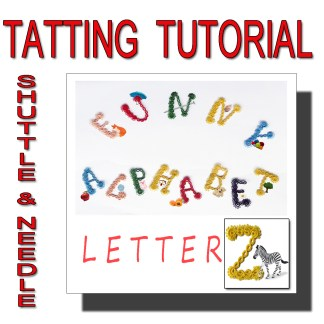Letter Z tatting pattern