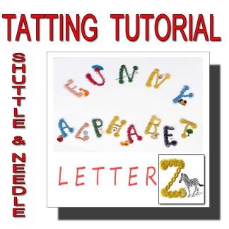 Letter Z tatting pattern