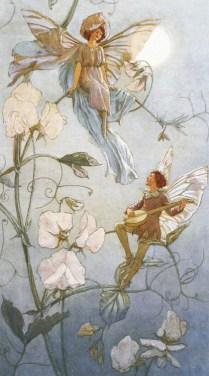 Fairies Midst Sweet Peas