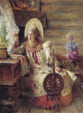 Young lady at the window