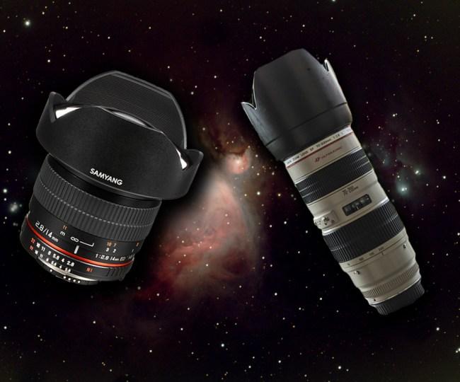 objectifs pour l'astrophoto