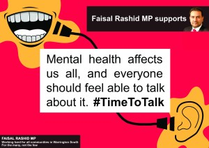 #timetotalk mental health
