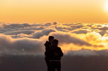 amoureux dans les nuages