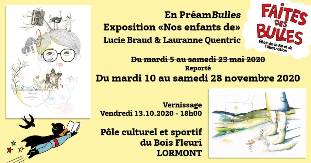 """Expositions """"Nos enfants de..."""" Espace Culturel du Bois Fleuri - Lormont - En PréamBulles - Faites des Bulles"""