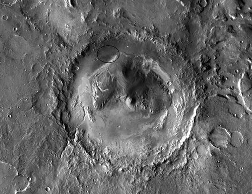 Gale Crater - Site of the Curiosity Mission