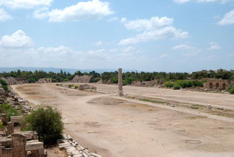 The Roman Hippodrome in Tyre, Lebanon