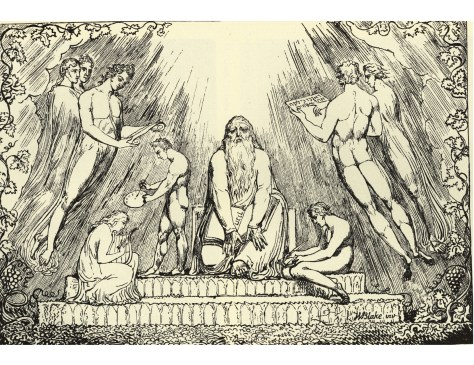 Enoch - Lithograph by William Blake, 1806