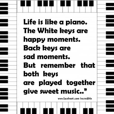 Black and White Keys Make Beautiful Music Together