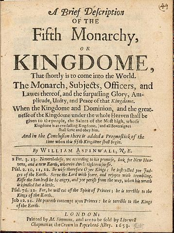 Tract from the Fifth Monarchy Men 1653