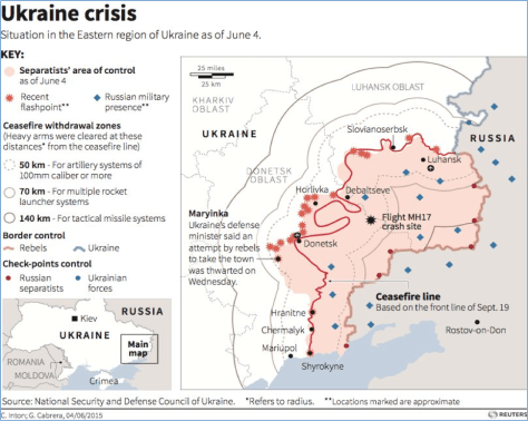CRISIS IN THE UKRAINE AS OF JUNE 4, 2015