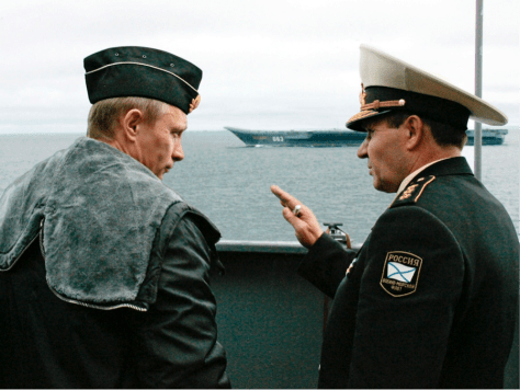 VLADIMIR PUTIN AND RUSSIAN DEPUTY OF THE NAVY MIKHAIL ZAKHARE