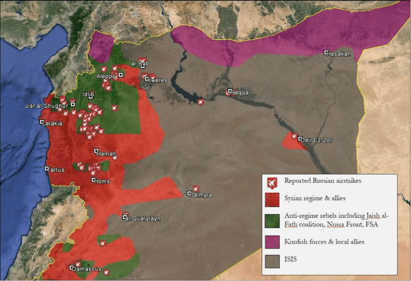 Russian Attacks on Syrian Rebels