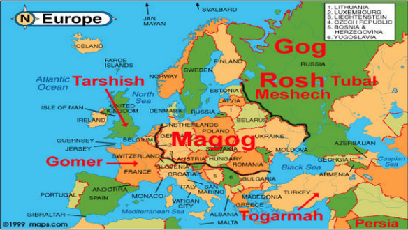 Where are the nations of Ezekiel 38-39 located?