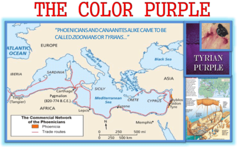 The Color Purple and its Connection to Tyre, Tarshish and the Mystery Babylon