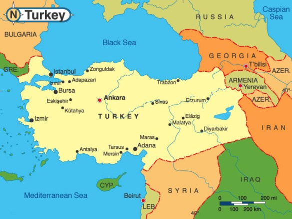 Map of Turkey Today