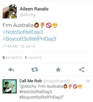 An emoji-filled tweet of support from Aileen Ravalo of Perth, Australia.