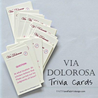 ACTIVITY: Via Dolorosa Trivia Cards