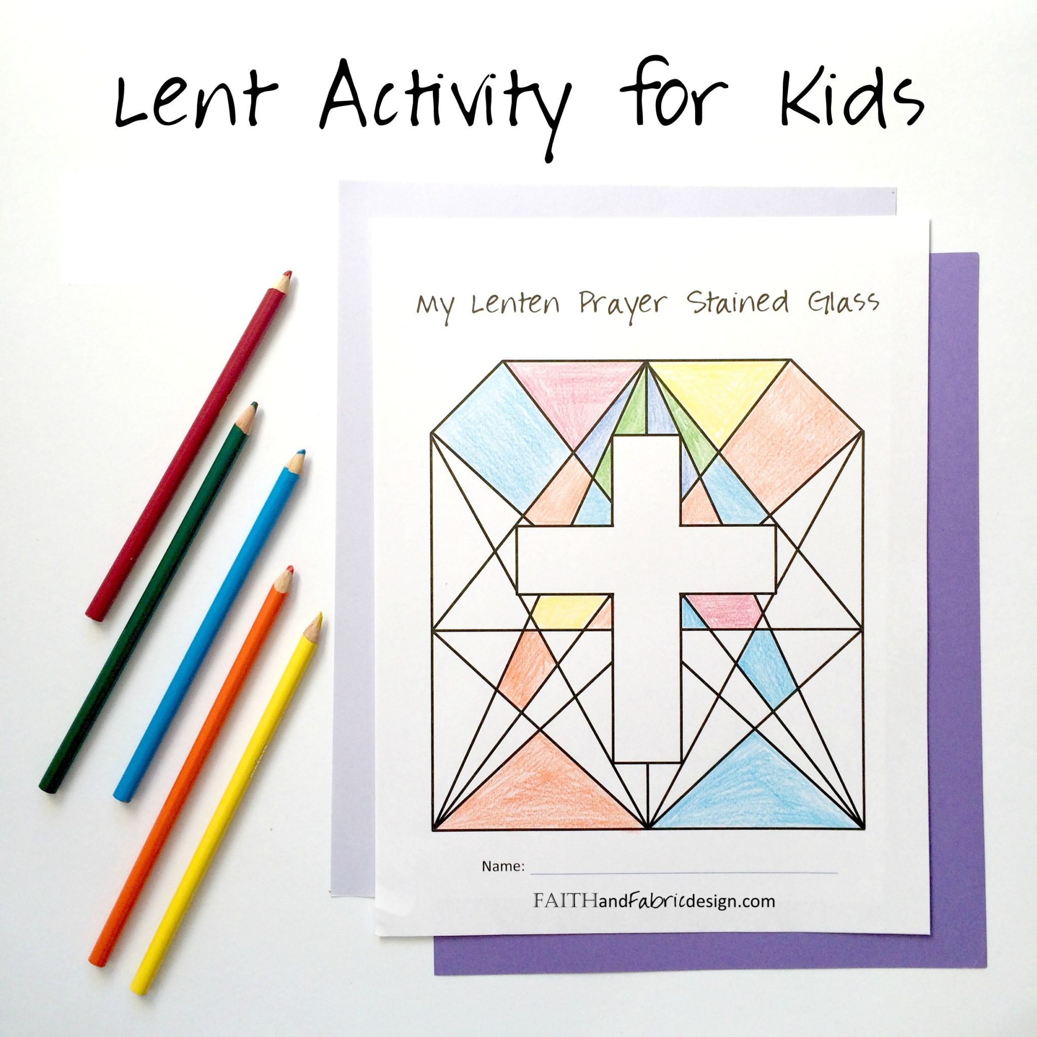 Lent Activity For Kids
