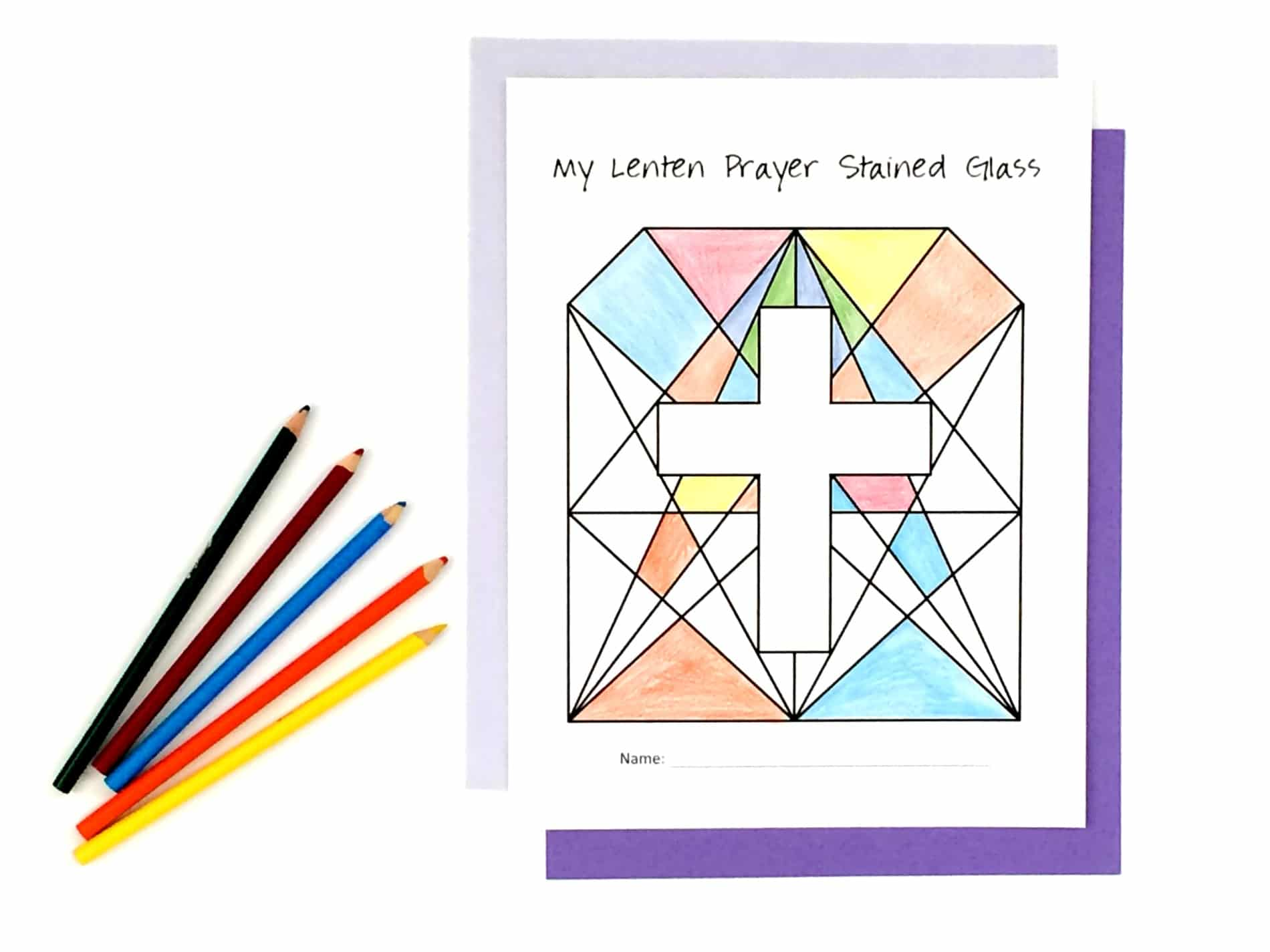 Activity Lenten Prayer Stained Glass Lent Activity For Kids Faith And Fabric