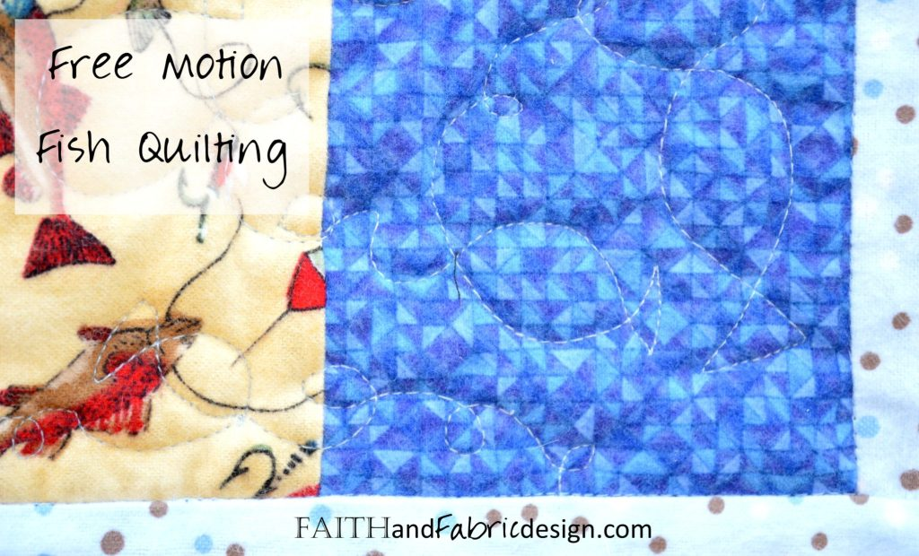 Fish Free Motion Quilting