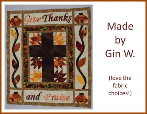 Christian Thanksgiving Quilt Gin W