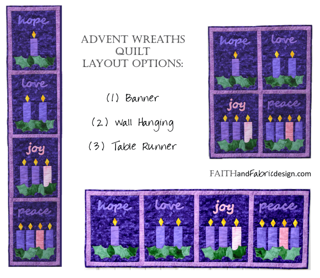 Faith and Fabric - Advent Quilt Pattern Options