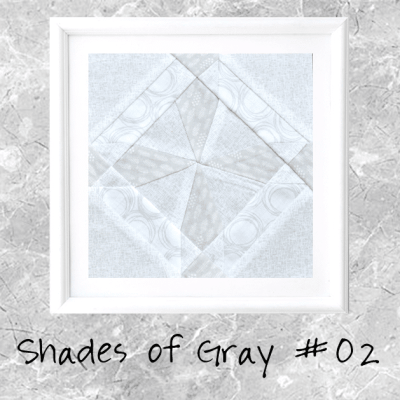 Shades of Gray: Farmer's Wife Block 02 Aimee
