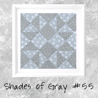 Shades of Gray: Farmer's Wife Block 55 Malvina