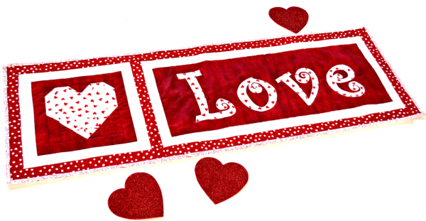 Faith and Fabric - love this easy to make St. Valentine's Day quilt pattern
