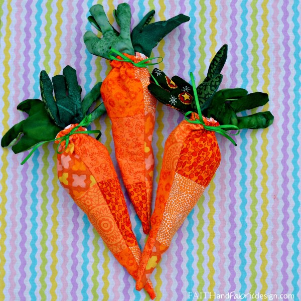 Faith and Fabric - Easy Easter Sewing Projects Carrots 10