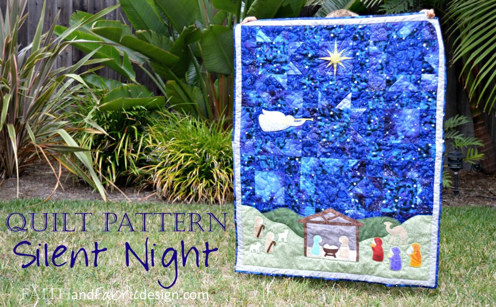 Silent Night Nativity Christmas Quilt Pattern wide