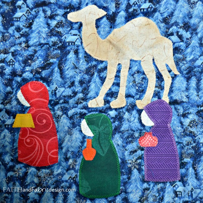 12 Days of Christmas Quilt Maji Detail
