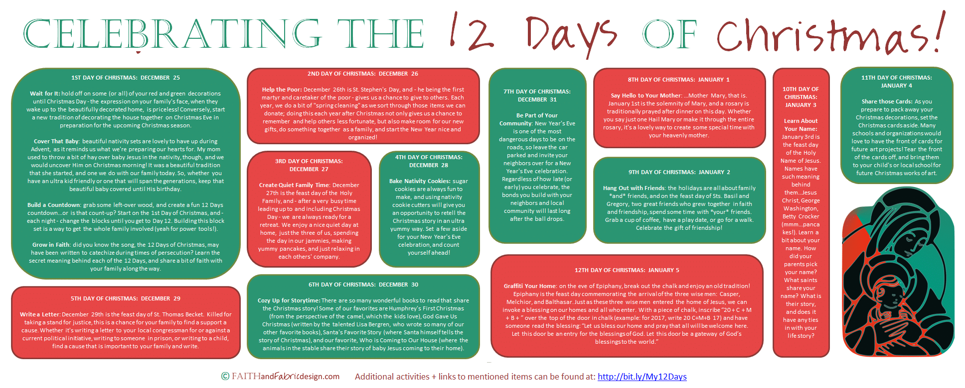 Fun And Easy Ways To Celebrate The 12 Days Of Christmas Printable Faith And Fabric