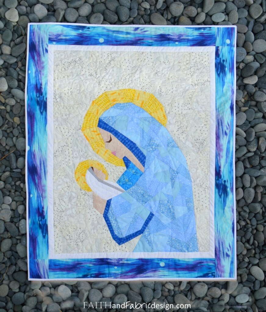 Mary Jesus Christian Quilt Pattern 4s
