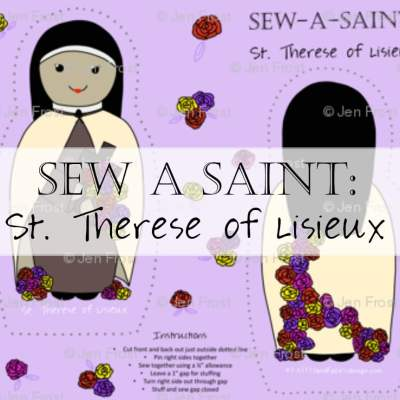 Fabric: St. Therese of Lisieux Sew-A-Saint