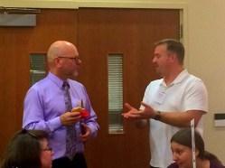 Alan Brown,CCS' Phoenix Housing Network, and Duke Paulson, Helping Hand House (Puyallup)