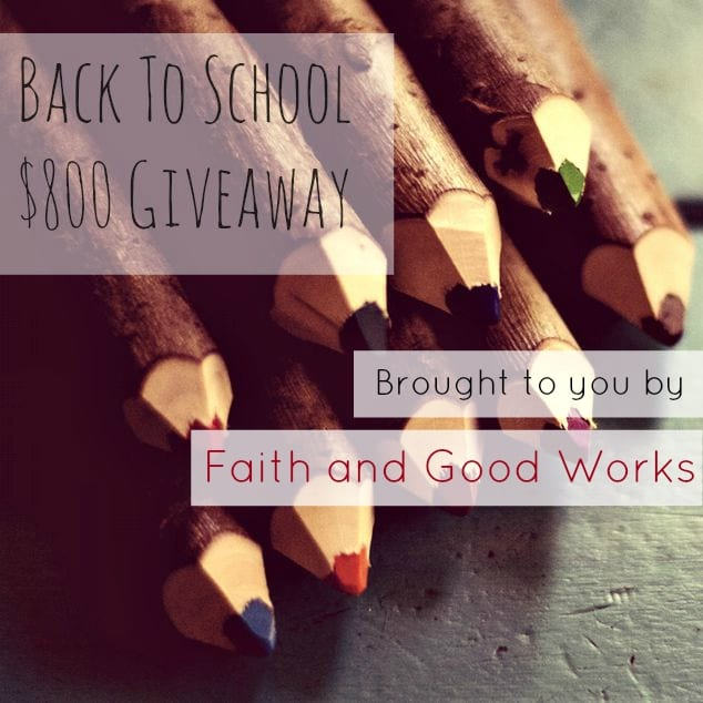 Back to School $800 Giveaway