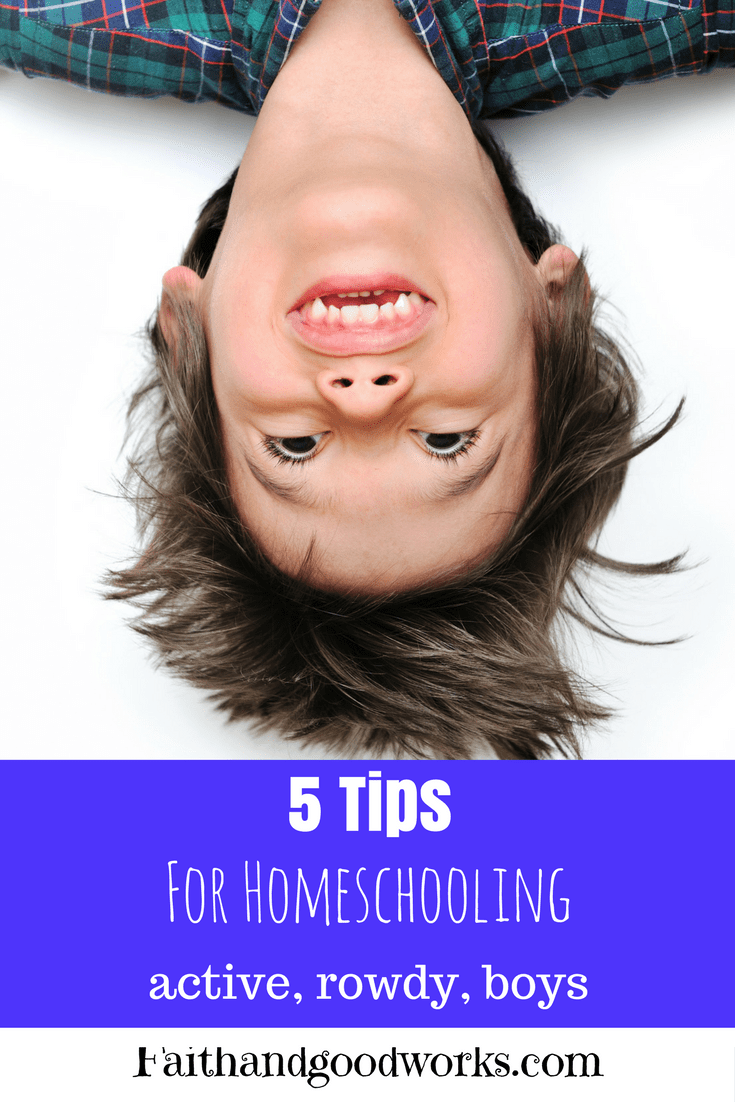 5 Tips for Homeschooling Active, Rowdy Boys