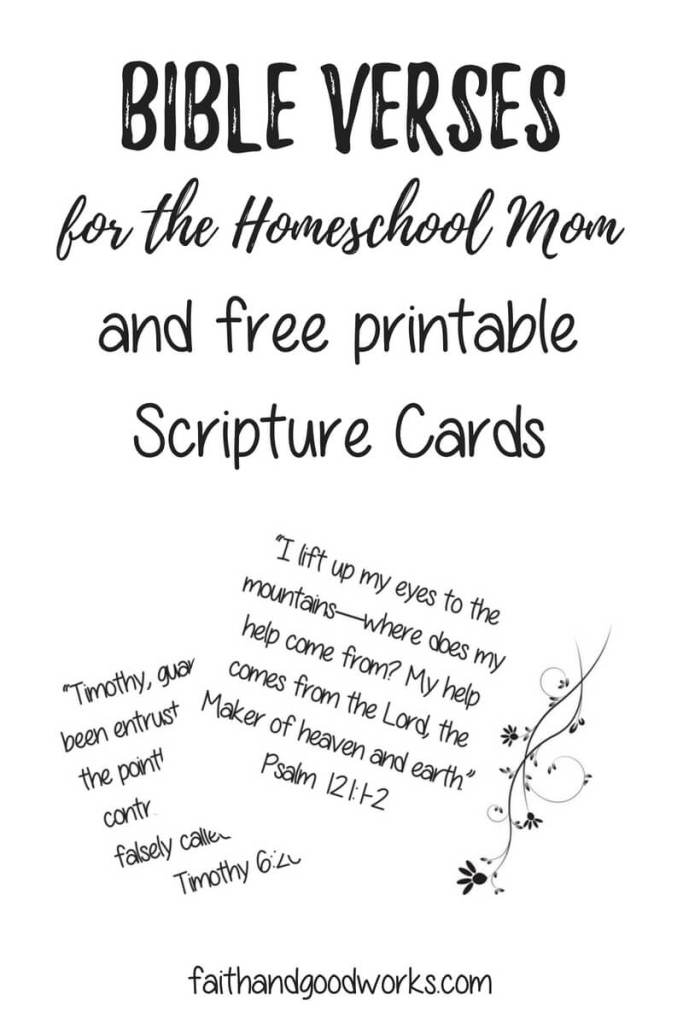 bible verses for the homeschool mom