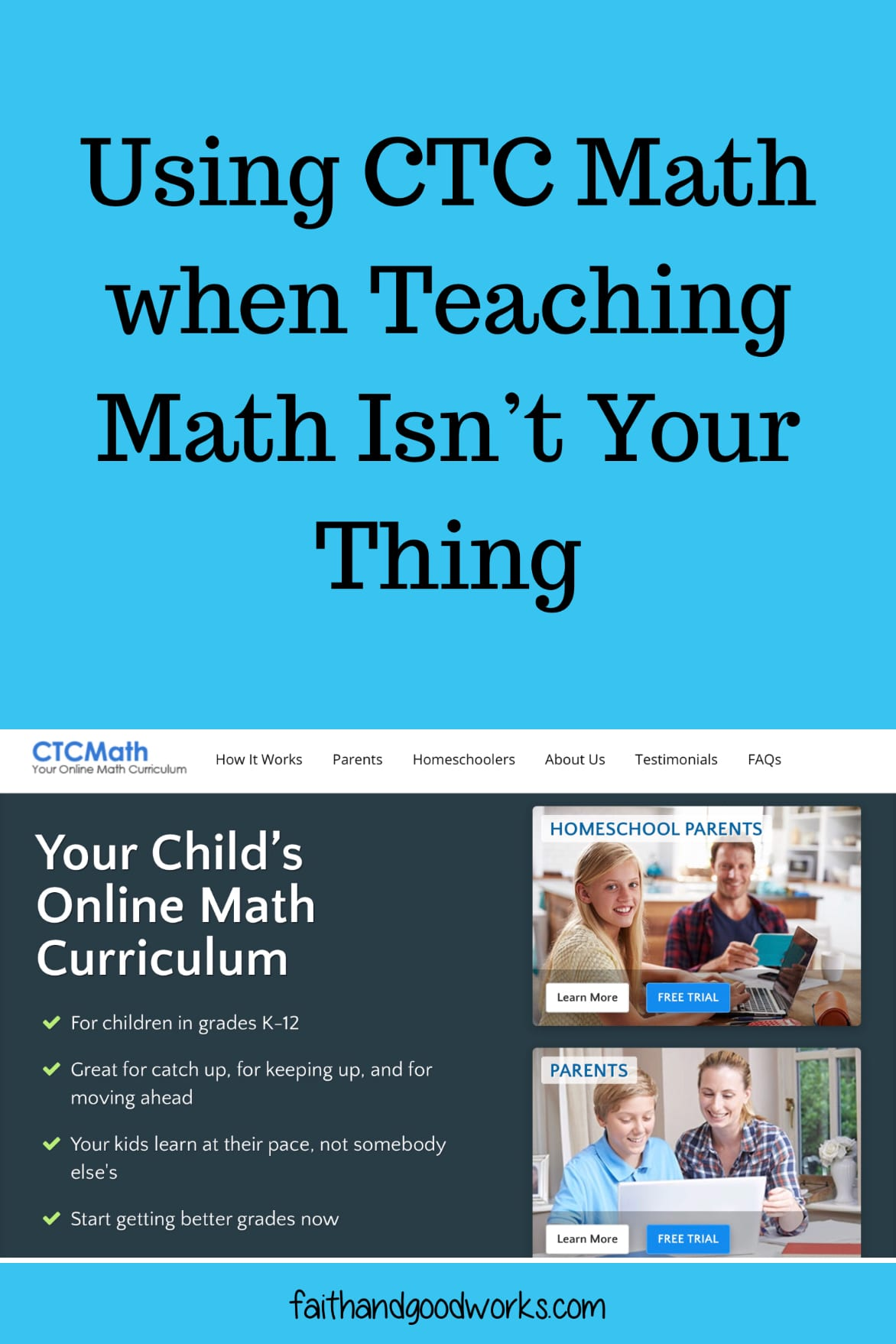 Teaching Math Using CTC Math:  When Math Isn't Your Thing