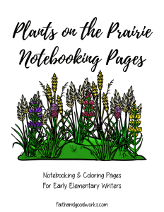 Prairie Notebooking Pages