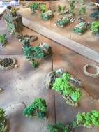 This scratch built airfield was good to fight over with a good mix of visually apealing terrain
