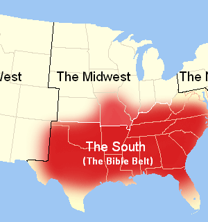 Map of the South