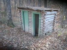 Outhouse at the Woodland Shelter